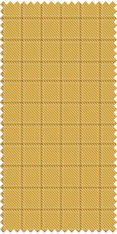 Cardiff Checkered Golden Cream Tweed Custom suit
