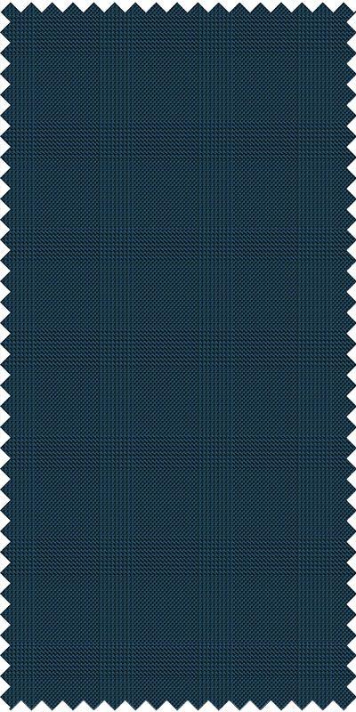 Balmoral Cobalt Blue Plaid Suit Black Grey Plaid Custom Suit