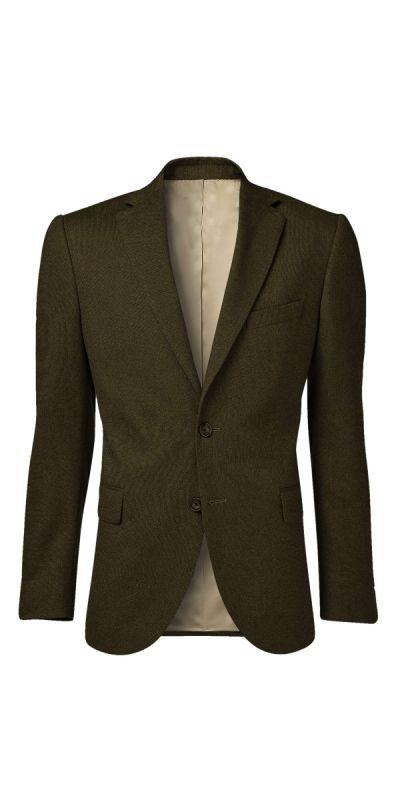 Moncler Dull Brownish Gold BirdsEye Custom Jacket