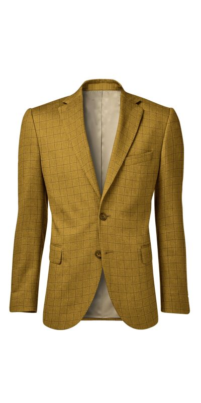 Cardiff Checkered Golden Cream Tweed Custom Jackets