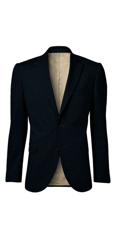 Lancaster Mist Blue Tweed Custom Jacket