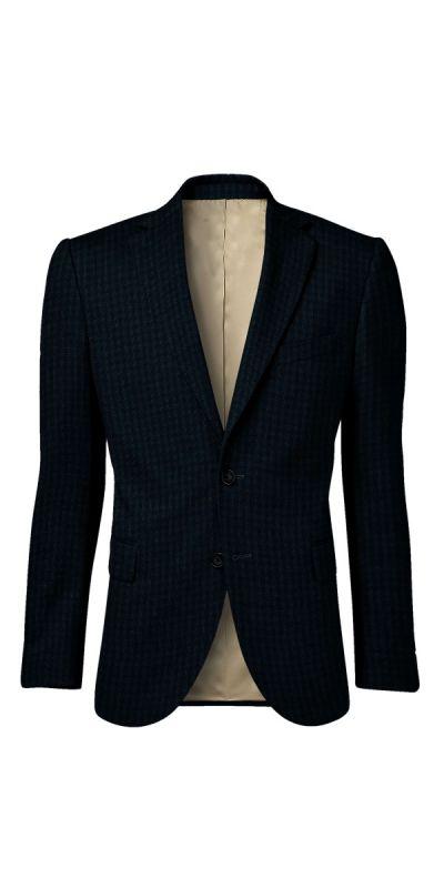 Lancaster Mist Blue Tweed Custom Jacket