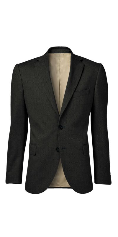 Bamburgh Black HerringboneTweed Custom Jacket