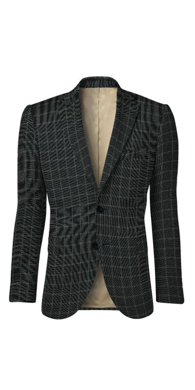 Belmonte Ash Grey Checkered Tweed Custom Jacket