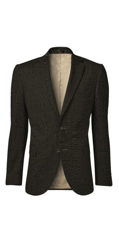 Ludlow Black Grey Plaid Custom Jacket