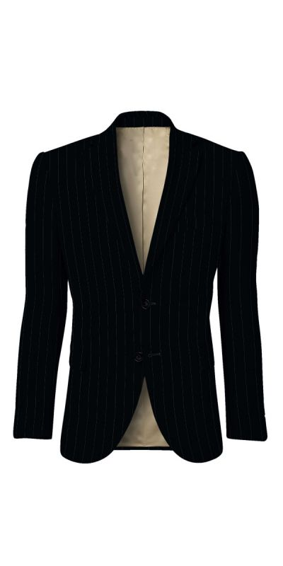 Durham Black Broad Pinstriped Custom Jacket
