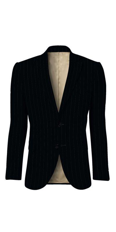 Durham Black Broad Pinstriped Custom Jacket