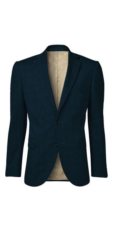 Balmoral Cobalt Blue Plaid Suit Black Grey Plaid Custom Jacket