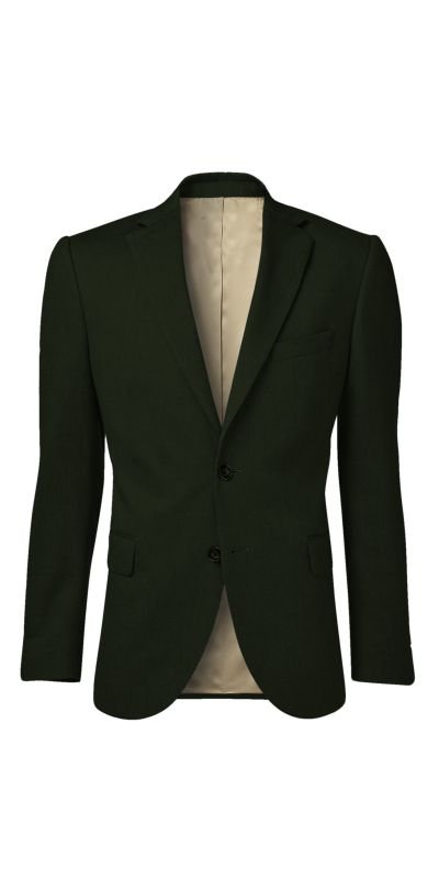 Prudhoe Olive Green Matty Weave Custom Jacket