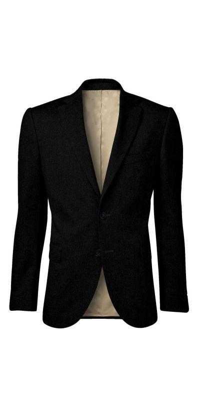 Lewes Black Textured Custom Jacket