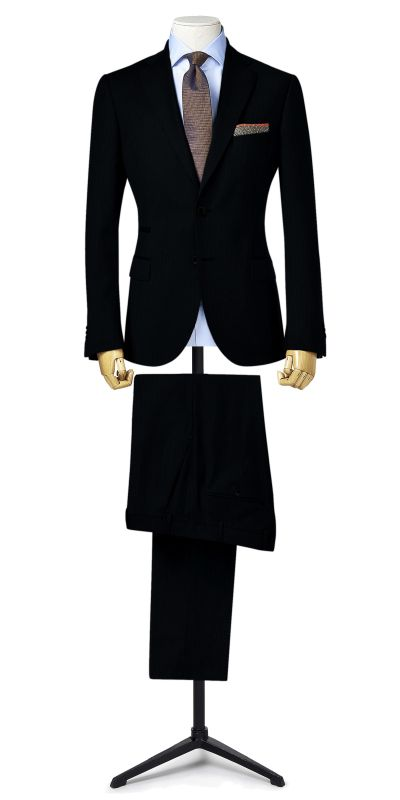 Berkeley Black self striped Custom Suit
