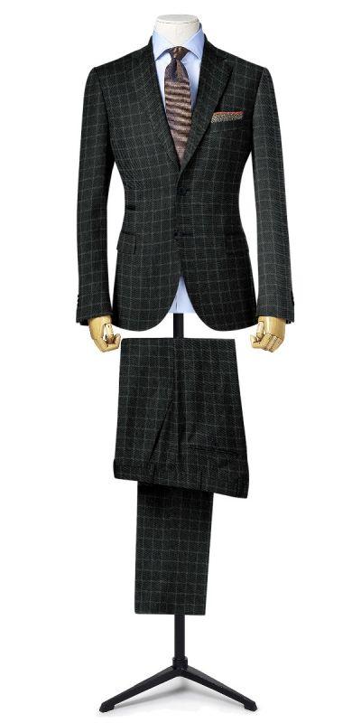 Belmonte Ash Grey Checkered Tweed Custom Pants