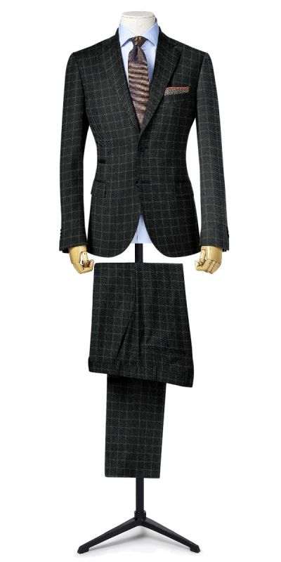 Belmonte Ash Grey Checkered Tweed Custom Pants