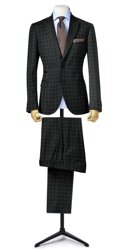 Belmonte Ash Grey Checkered Tweed Custom Suit