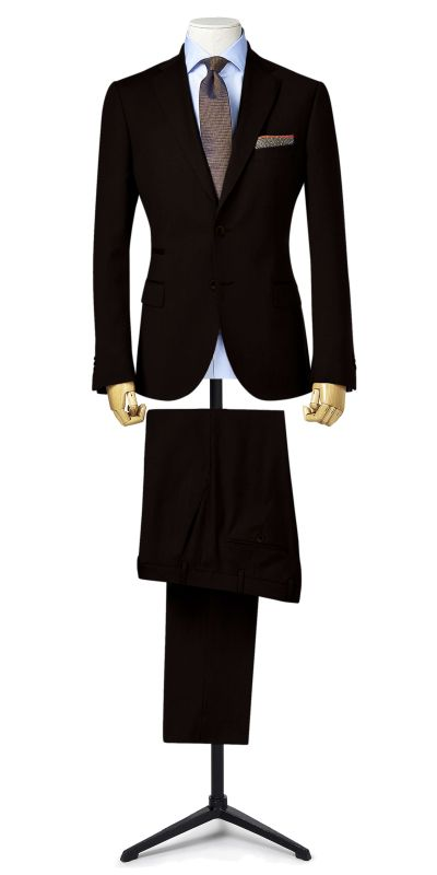 Midford Black subtle textured Suit