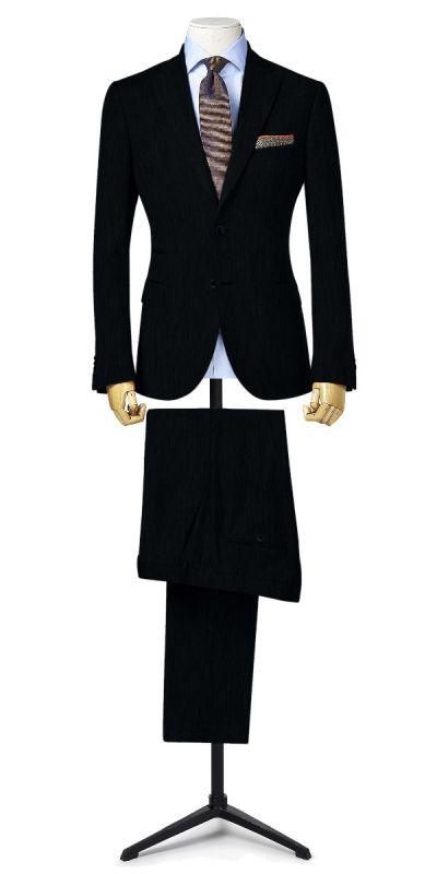 Midford Black Subtle Textured Pants