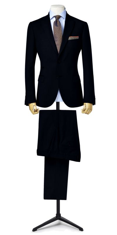 Knight Fort Deep Indigo Blue Custom Suit