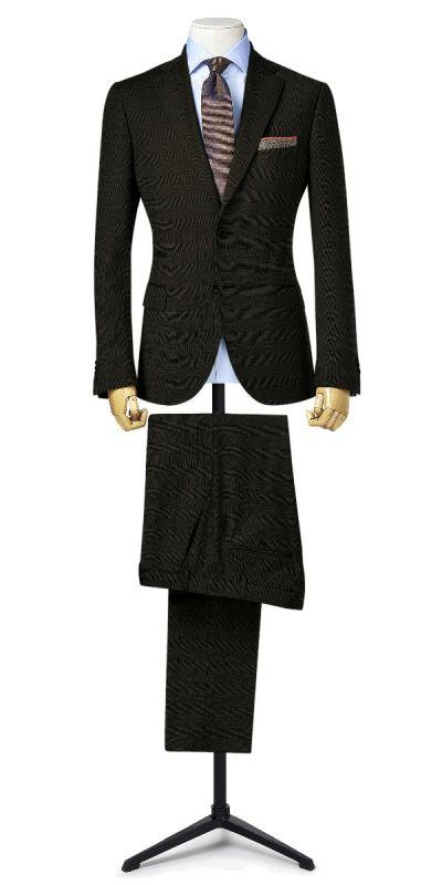 Ludlow Black Grey Plaid Custom Pants