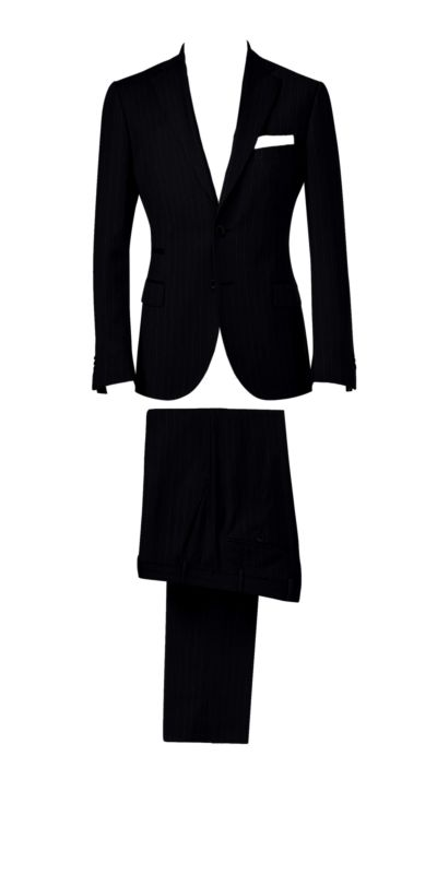 Durham Blackboard Pinstriped Custom Suit