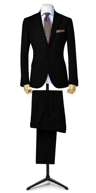 Wartburg Black BirdsEye Custom Suit