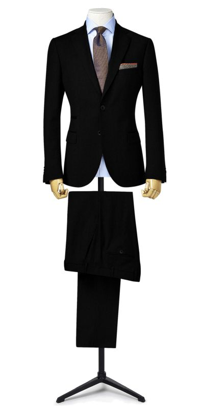 Lewes Black Textured Custom Suit