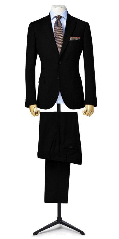 Lewes Black Textured Custom Pants