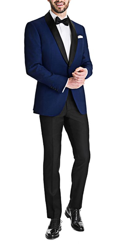Royal blue dinner Jacket with Black pants